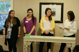 Stacey Zanoni, & Youth Committee Officers Amanda Puglise, Samantha Miller, Chloe Williams.